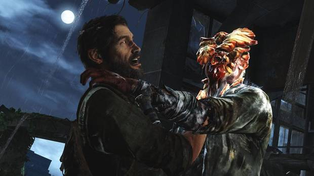 Happy to see me? Joel has his hands full with one of The Last of Us' clickers.