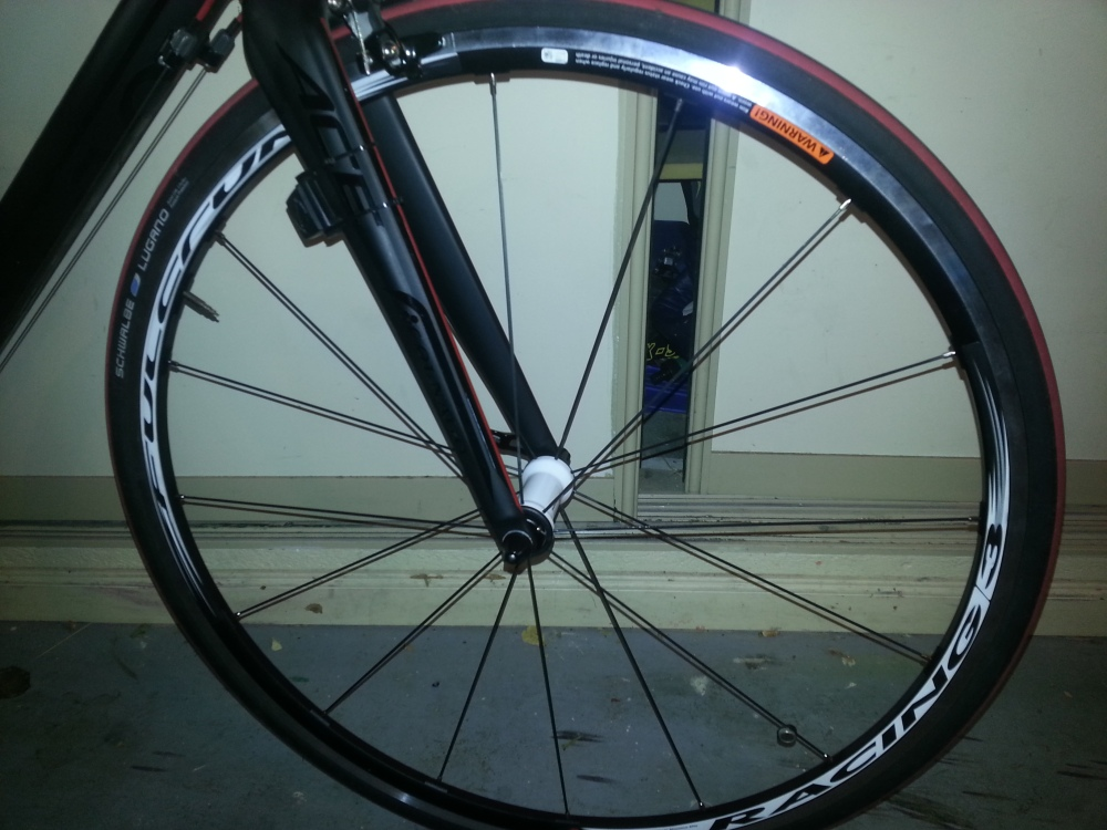 New wheels: I replaced the stock Shimano wheels on my bike with a set of Fulcrum Racing 3s. The difference was noticeable.