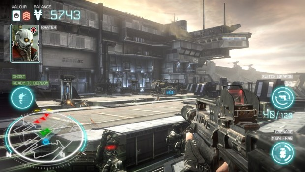Looking good: a screen grab from Killzone Mercenary taken from my PS Vita.