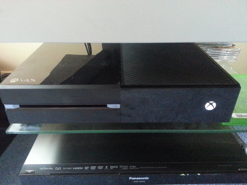 Pride of place: The Xbox One doesn't look out of place sitting above my Panasonic DVR.