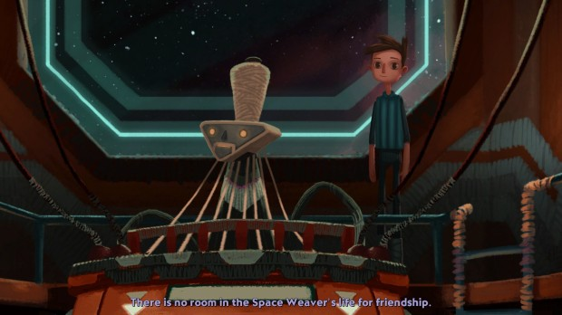 The Space Weaver: Perhaps the most interesting character in Broken Age.