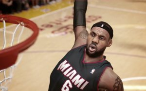 King LeBron: My son's loving NBA2K14, but he's not loving being on the Minnesota Timberwolves. The team isn't very good, apparently.