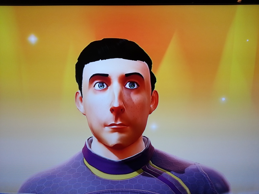 Hey, it's me: My Kinect Sports Rivals avatar as captured by the Xbox One's Kinect camera.