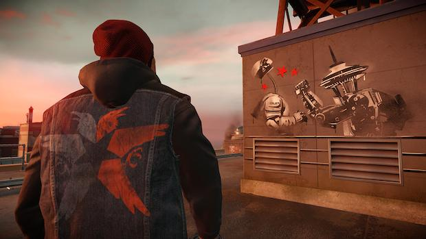 Street art: You use the PlayStation 4's Dualshock 4 controller as a makeshift spray can to decorate inFamous Second Son's rendition of Seattle.