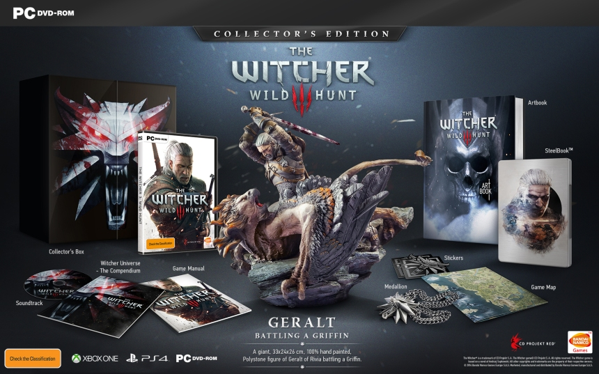 That's what I call a collector's edition: a polylstone figurine of Geralt of Rivea slaying a griffin is the centrepiece of The Witcher 3's collector's edition. I want it now.