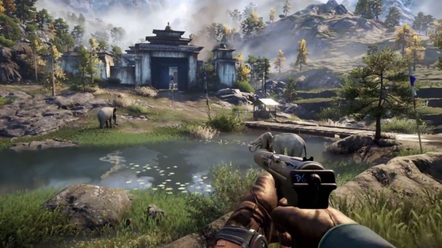 Far Cry 4: It looks idyllic but I bet there's a ferocious honey badger lurking behind a rock somewhere.