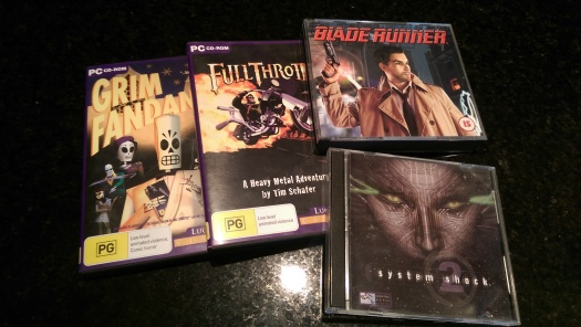 Hard to find: I still have disc copies of Grim Fandango, Full Throttle, Blade Runner and System Shock 2. No, I won't sell them to you.