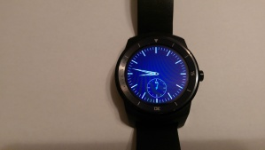 Sapphire and world clock Two of the pre-installed watch faces on the LG G Watch R.