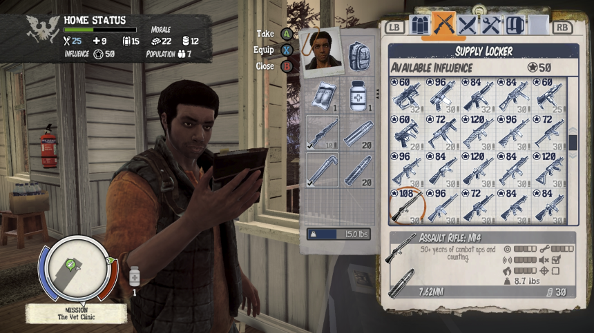 Resource management: In State of Decay, it's not just about smashing zombies. It's also about managing your scarce resources.