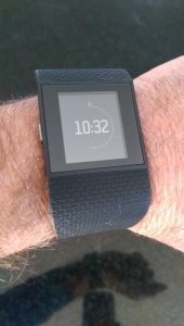One of the several watch faces you can pick on the Fitbit Surge.