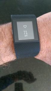 The Fitbit Surge has a continuous optical Heart Rate monitor.