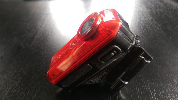 Eyes open: The Fly6 is bulker than a standard rear flashing bike light but that's because it has an HD camera inside [and a rechargeable lithium ion battery]