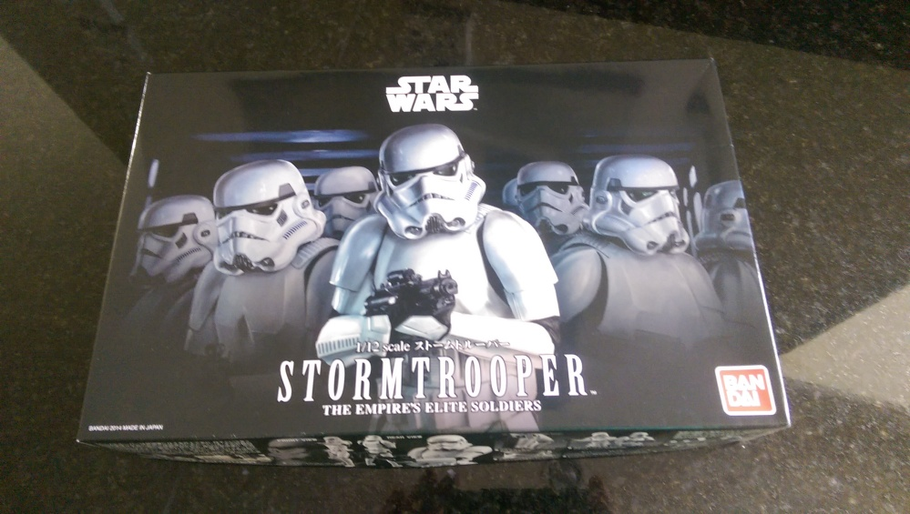 The box for the Bandai Stormtrooper kitset model. It's a nice box.