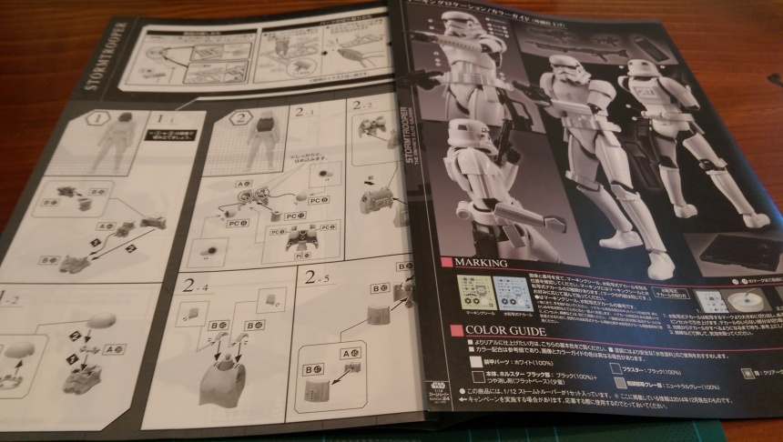 The instructions for the kitset model. Yep, they're all in Japanese - but there are pictures, so that was great.