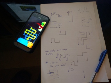 My essential toolkit when playing The Witness: Smart phone, heaps of paper & a pen.
