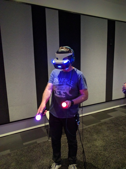 Yeah, that's me using the PSVR at Sony NZ's headquarters in Auckland.