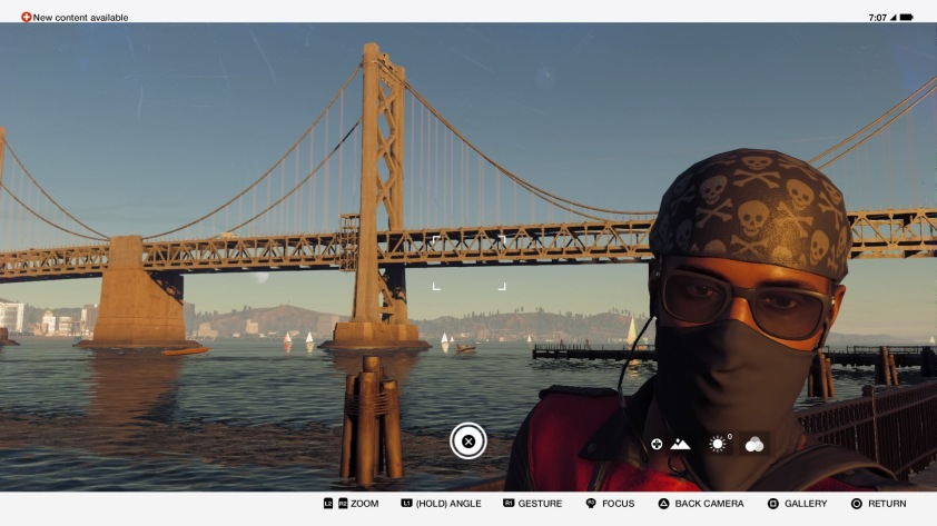 Marcus Holloway can take selfies around the virtual city of San Francisco.