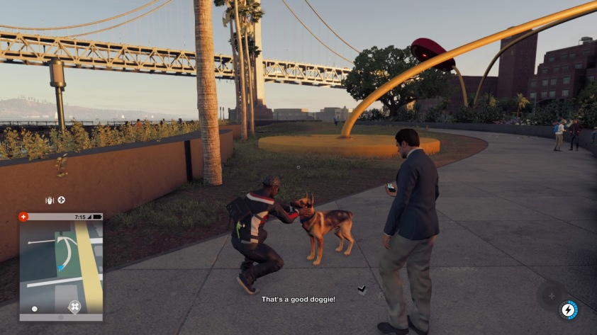 You can pat dogs in Watchdogs 2. Nice.